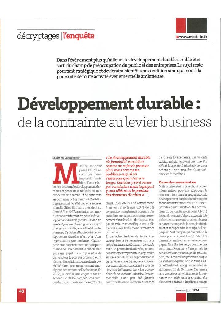 seminaire developpement durable